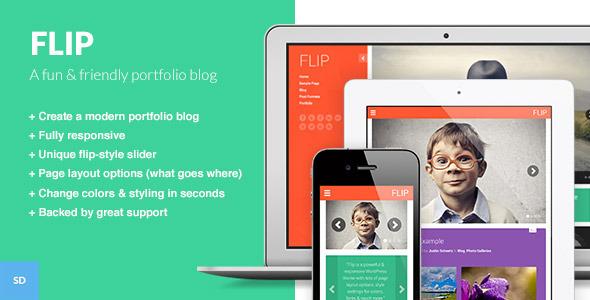 FLIP: A Unique & Colorful WordPress Theme