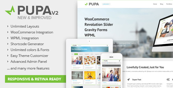 Pupav2 – Multi-Purpose WordPress Theme