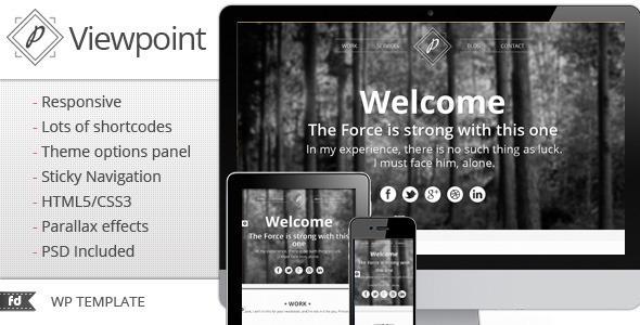 Viewpoint – Responsive single page portfolio