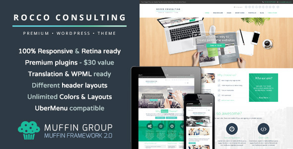 Rocco Flat Premium WordPress Theme
