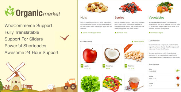 Organic Market – Friendly Ecommerce
