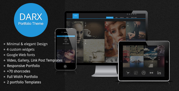 Darx – Responsive Dark Portfolio WordPress Theme