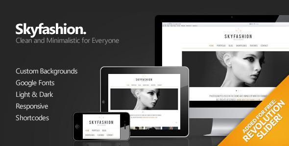Skyfashion – Minimalist WordPress Theme