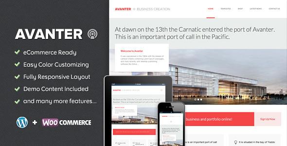 Avanter – Corporate & Architecture Theme