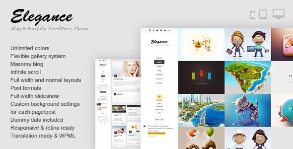 Elegance – Responsive Portfolio WordPress Theme