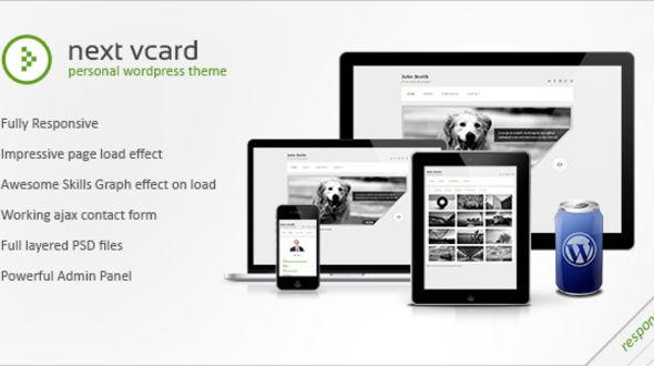 Next vCard – Responsive WordPress Vcard
