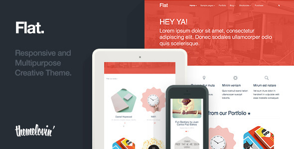 Flat: Responsive and Multipurpose Creative Theme