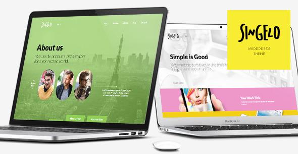 Singelo — One Page WordPress Theme