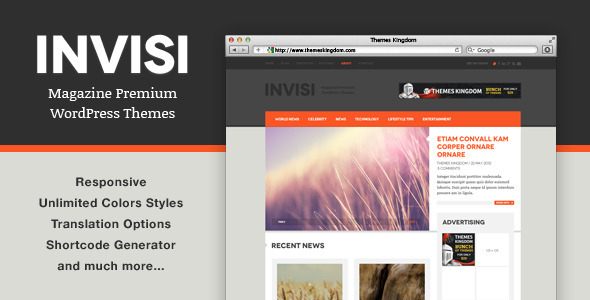 Invisi – Responsive News WordPress Theme