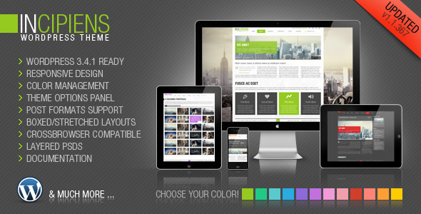 Incipiens Responsive Portfolio WordPress Theme