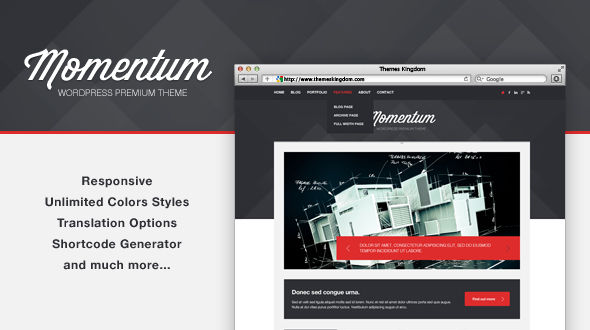 Momentum – Responsive WordPress Theme