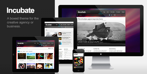 Incubate – Responsive Agency & Portfolio WordPress Theme