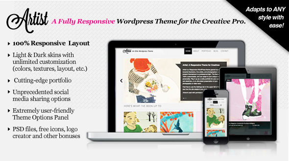 Artist: A Responsive, Fully Customizable Theme