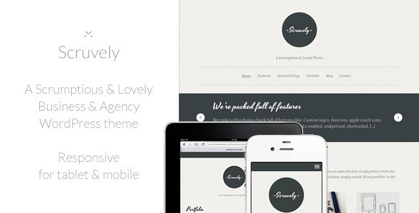 Scruvely – A Typographic Business & Creative Theme