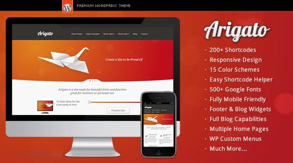Arigato – Responsive WordPress Theme