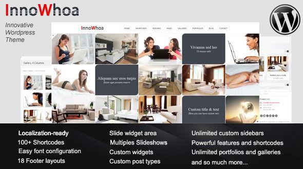 InnoWhoa – Innovative wordpress theme