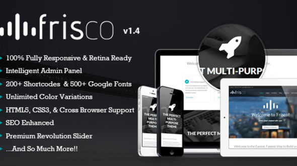 Frisco – Responsive Multi-Purpose WordPress Theme