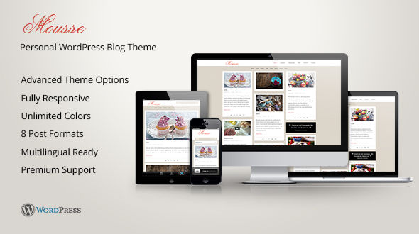 Mousse – Masonry Responsive WordPress Theme