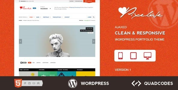 Pixelove – Clean & Responsive WordPress Theme
