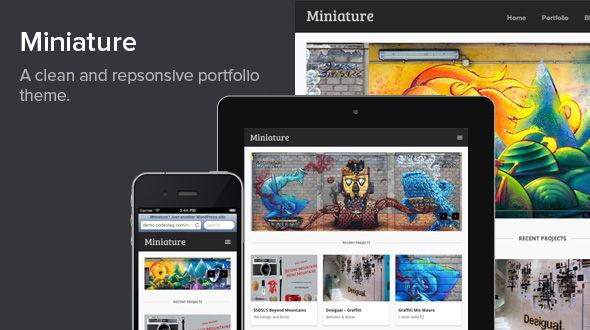 Miniature – Responsive WordPress Portfolio Theme
