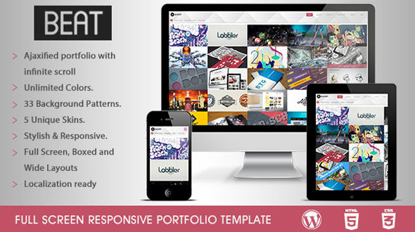 BEAT – Full Screen Responsive WP Portfolio theme