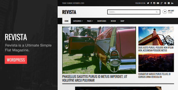 Revista – Ultimate Flat Magazine WordPress Theme