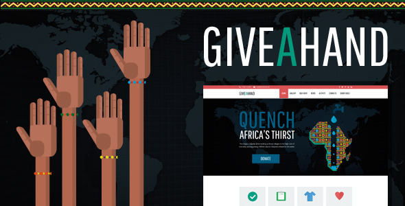 GiveAHand – Charity Responsive WP Theme