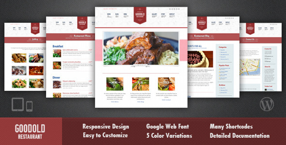Goodold Restaurant – Responsive WordPress Theme