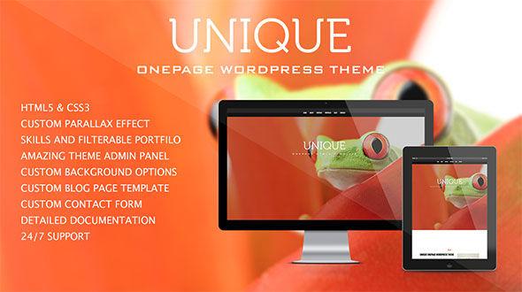 Unique – One Page Portfolio Theme
