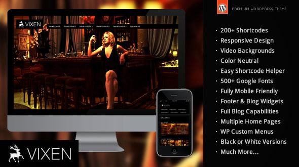 Vixen – Responsive WordPress Theme