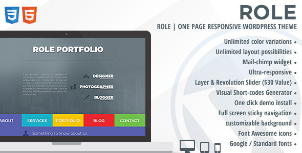 Role | One Page Responsive WordPress Theme