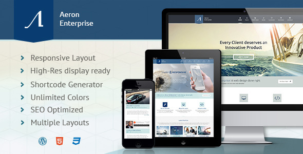 Aeron – Premium Responsive Corporate Theme