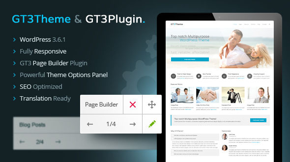GT3 Multipurpose Responsive WordPress Theme
