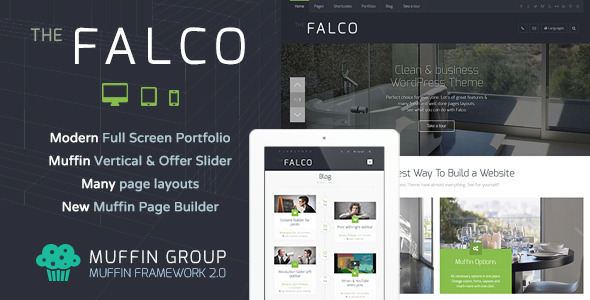 Falco – Responsive Multi-Purpose WordPress Theme