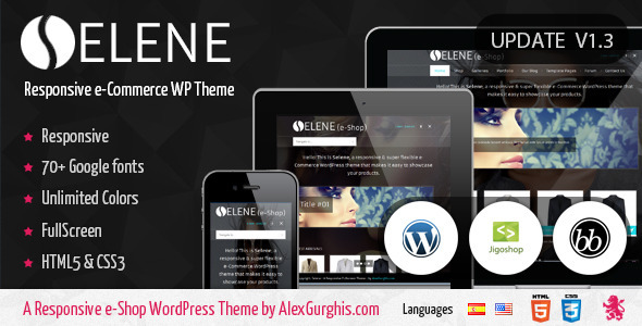 Selene – Fullscreen e-Commerce WordPress Theme
