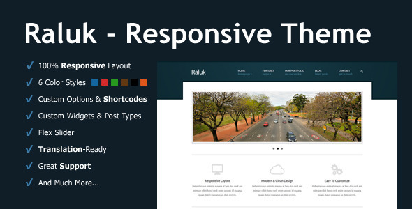 Raluk – Responsive Business Theme