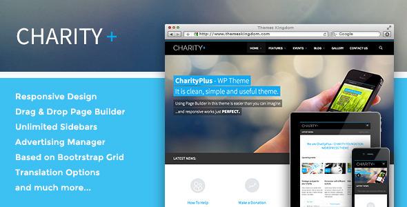 Charity+ WordPress Theme