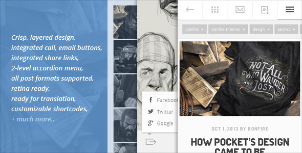 POCKET – A minty-fresh WordPress theme