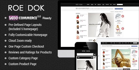 WooCommerce WordPress Theme – RoeDok
