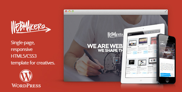 Webmakers – one page WordPress Theme