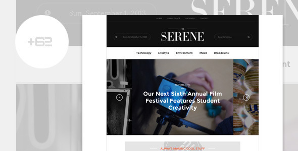 Serene – Magazine WordPress Theme