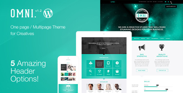Omni | stylish powerful one page and multipage app and software wp.