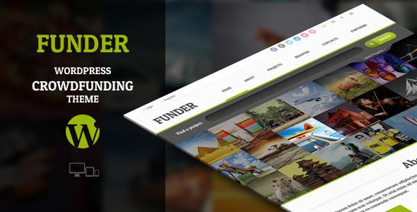 FUNDER – Crowdfunding WordPress Theme