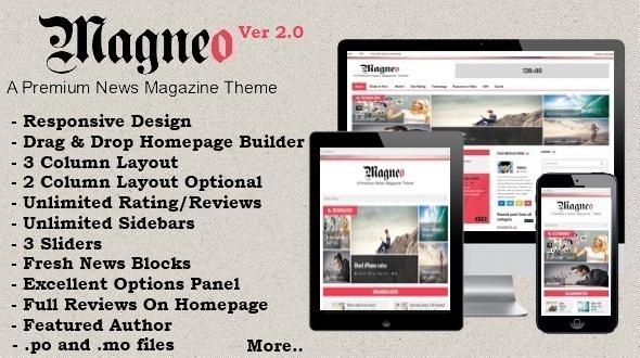 Magneo – Responsive News Magazine Theme