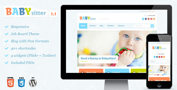 Babysitter – Responsive WordPress Theme