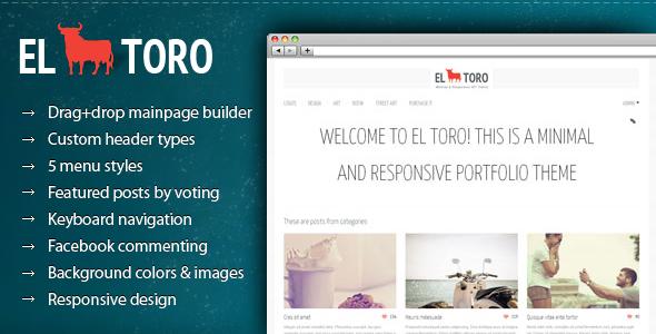 El Toro – Minimal and Responsive Portfolio Theme