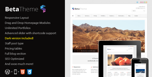 Beta – Clean Corporate WordPress Theme