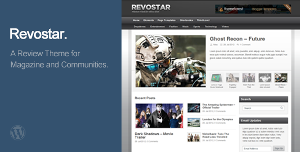 RevoStar – WordPress Magazine/Review Theme