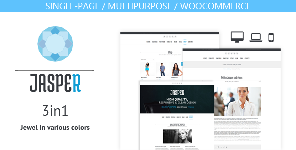 Jasper – 3 in 1 theme (one-page/multipurpose/shop)