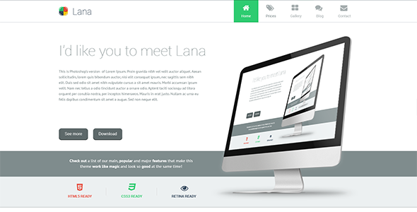 Lana – One Page WordPress Theme